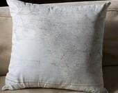 Silk Aviatop Map cushion (Shiraz-Bushire)
