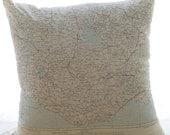 "Silk aviator map cushion pair (regions of Turkey) 24 x 24"""