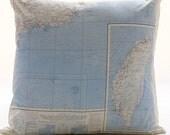 Silk aviator Map cushion (Hong Kong)