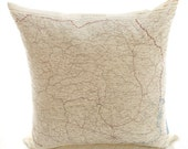 Silk Aviator Map cushion (Bucharest)