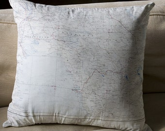 Silk Aviatop Map cushion (Shiraz-Bushire)