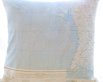 Silk Aviator Map Cushion (Irawaddy-Bay of Bengal)
