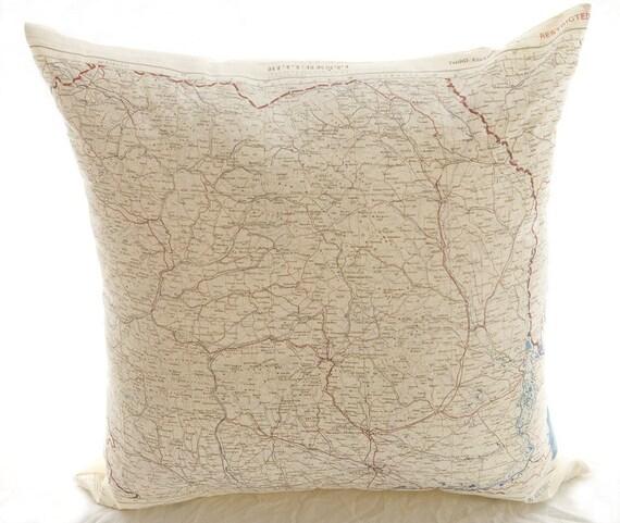 Silk Aviator Map cushion (Bucharest)