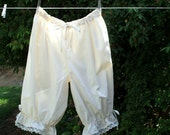 Womens Short BLOOMERS XS - XLg Cotton Lace Drawstring Custom Made