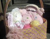 Oh Sew Cute Easter Baskets for Boys or Girls WITH BOWS U choose fabric