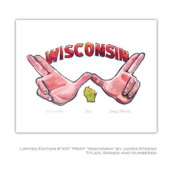 Wisconsin Handsign for Bucky Fans