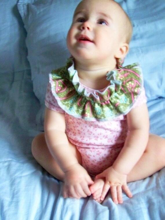 The Victoria- Avant Garde Ruffle Collar Flower Onesie 3 Months