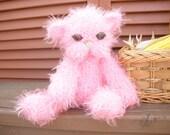 Pink Kitty Amigurumi Baby Toy