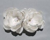 Bridal Ivory Hair Fascinator Set of 2 Gardenia Flower, Wedding Bridal Hair Clips