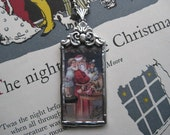 Victorian Santa Claus Soldered Pendant