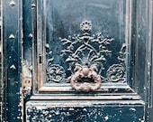 Paris Print, Paris Photography, Ornate Parisian Door, Paris Decor, Cottage Chic Fine Art Paris Photo, Wanderlust Travel Photo - Black Door