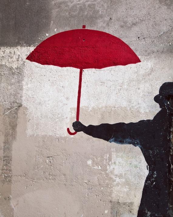 Paris photo paris decor paris photography paris streets for Painting red umbrella