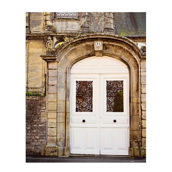 Door Photography Rustic White Door Print French Country