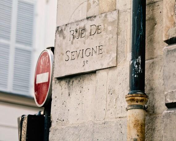 Paris Photo, Paris Photography, Urban Fine Art Print, Paris Decor, Neutrals, Cottage Chic, Wanderlust Travel Home Decor - Rue de Sevigne