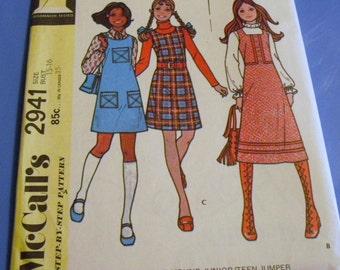 Vintage Seventies Junior Jumper Pattern   2941