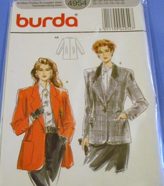 Burda Ladies Jacket Pattern  4954