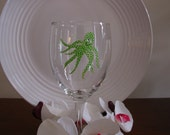 Octopus Wine Glass Handpainted Personalized, Whimsical wine glass, Personalized wine glass, personalized gift