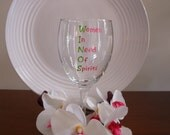 WINOS Wine Glass Handpainted