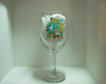 Fish Wine Glass Handpainted Personalized