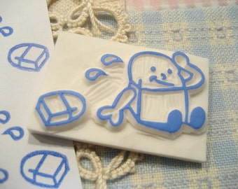 Hand Carved Eraserman Rubber Stamp (Made to Order)