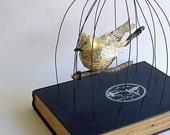 Bird in a Bird Cage Vintage Book Mixed Media The Dark Island
