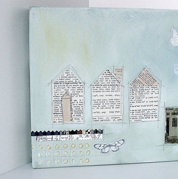 Original Mixed-Media Collage - What Place- From Where