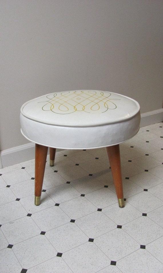 Vintage Mid Century Modern Footstool