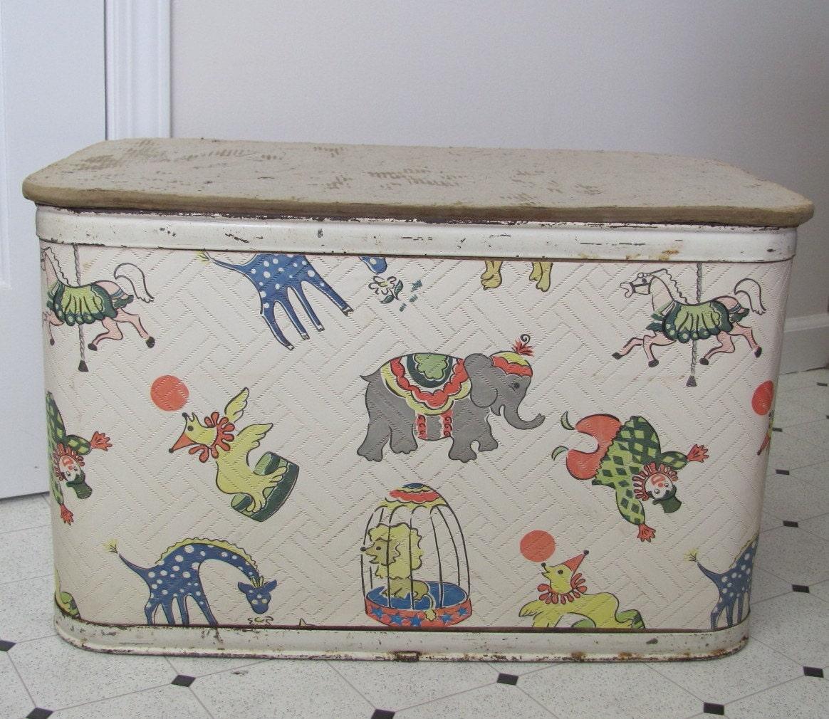 Vintage Circus Toy Box 1950s