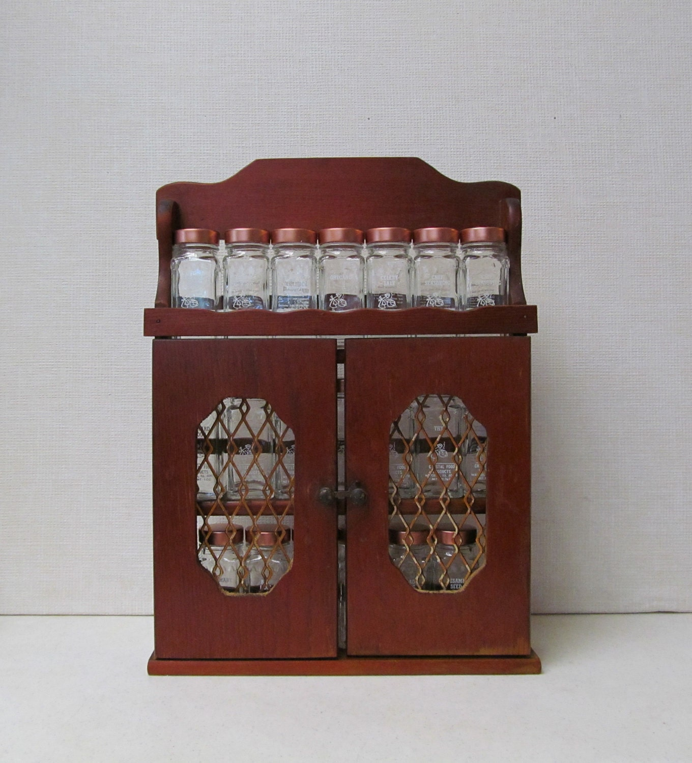 Vintage Spice Rack Crystal Food Products Spice Cabinet
