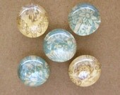 vintage-style mini marble magnets - set of 5
