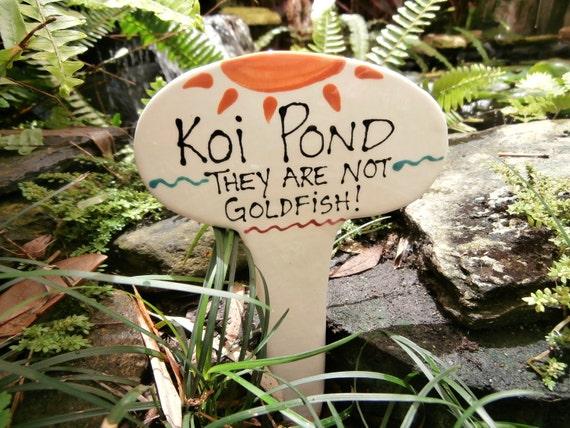 Koi Pond Garden Stake