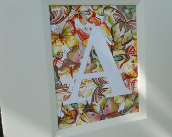 SALE butterfly initial 8x10 print
