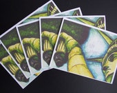STATUE OF LIBERTY note cards/ watercolor print/ set of 5