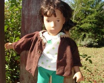 Sasha's Brown Knit Jacket
