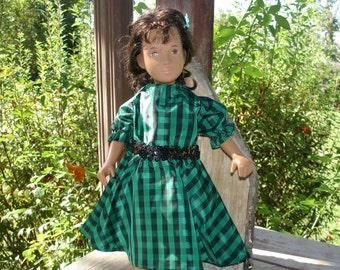 Elegant Emerald Party Dress for Sasha and Other Dolls
