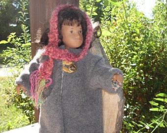 Fuzzy Fur Fall Coat For Sasha  or Teddy Bear