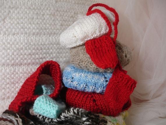 Hand Knit Beret Set for Gregor, Sasha
