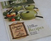 West Bend Country Inn Cookware Recipe Book 1969
