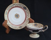 Lefton Wako Demitasse Cup and Saucer Occupied Japan