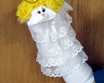 Angel Sock Puppet from Puppets by Margie