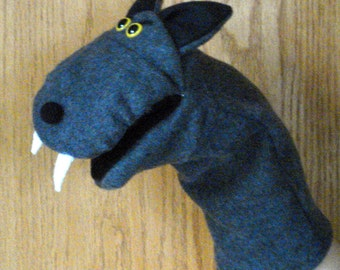 Big Bad Wolf Hand Puppet with moveable mouth