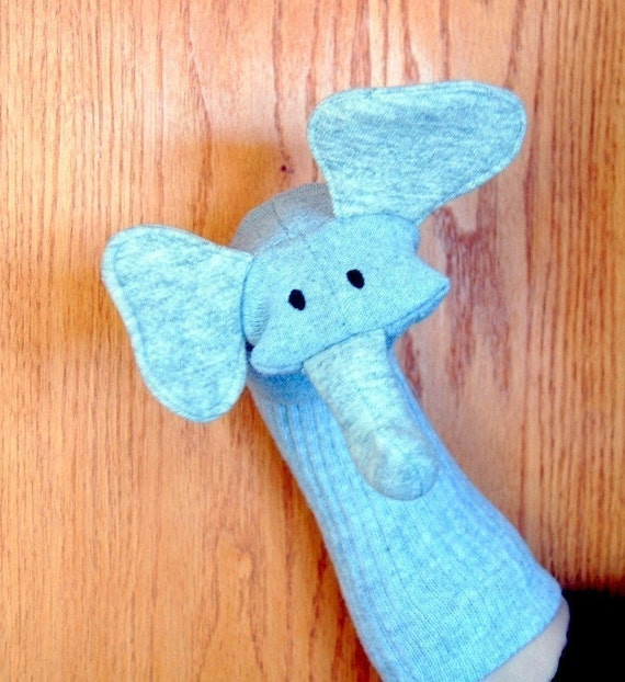 Elephant Sock Puppet