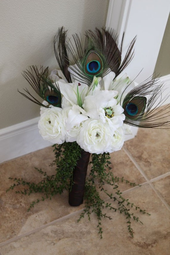 My Love - Peacock Bridal Bouquet