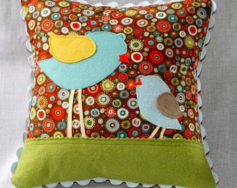 Mothers and Daughters - little bird pillow