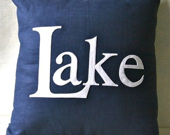 Take me to the Lake - summer vacation pillow