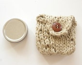 Hemp Pouch with tin--MADE TO ORDER