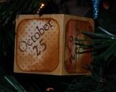 Vintage Inspired Custom First Christmas Ornament
