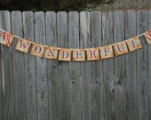 Christmas Banner - It's a Wonderful Life - Vintage Inspired