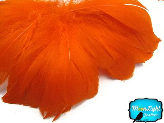 2 Inch Strip - ORANGE Strung Goose Nagoire Feather: 595