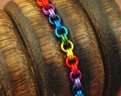 Petite Rainbow Chainmaille Bracelet Kit - Perfect for Beginners And Fun for All Jewelry Makers